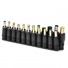 Universal 11+12 DC Power Adapters for Laptop / Notebook / LED + More - Black (23 PCS)