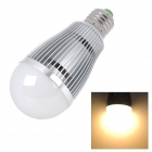 L20121221-2 E27 7W 650lm 7-SMD 5630 LED Warm White Light Bulb - Silver + White