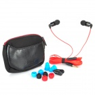 AWEi ES600i Noodle Style In-Ear Earphones w/ Mic + Earbuds - Red (3.5mm Jack / 130cm-Cable)