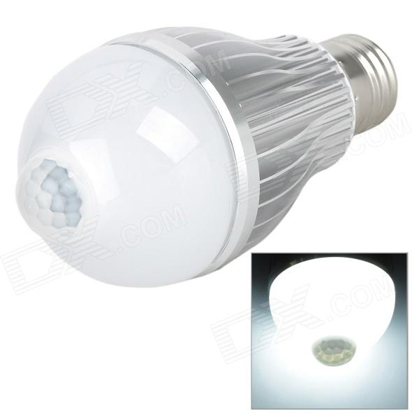 JOYDA-003 E27 6W 550lm 6500K 12-SMD 5630 LED White Light IR Induction Bulb - White (AC 85~265V)