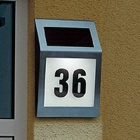 2-LED Stainless Steel Wireless Solar Powered Door House Wall Number Indicator
