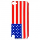 The US Flag Pattern Protective Plastic Back Case for Ipod Touch 5 - Red + White + Blue