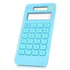 Fashion 1.7&quot; LCD Eco-friendly Corn Plastic Solar Power Calculator - Blue