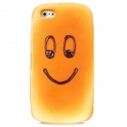 Creative Smiley Face Bread Style Protective Soft Sponge Back Case for Iphone 5 - Brown Yellow