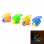 SZD-4 Motorcycle Style 1-LED Red Blue Yellow Green Light Plastic Finger Lamp Toy (4 PCS / 2 x +736) 