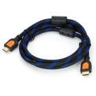 SJX-02 HDMI V1.3 Male to Male Connection Cable - Orange + Black + Blue (150cm)