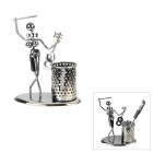 Beauty Style Iron Pen Holder - Dark Silver