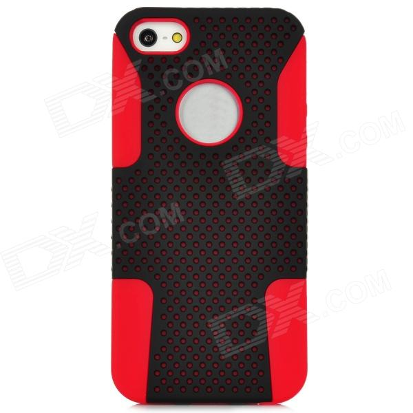 все цены на  Robot Style Protective Plastic Case w/ Silicone Cover for Iphone 5 - Black + Red  онлайн