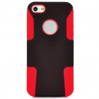 Robot Style Protective Plastic Case w/ Silicone Cover for iPhone 5 - Black + Red