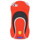 001 Cool Car Shape Protective Silicone Soft Back Case for Iphone 5 - Red