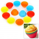 SP99013 Small Round Shape Silicone DIY Mold Tray for Muffin / Cake / Dessert / Chocolate / Pudding