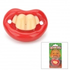 Joyful 4-Teeth Mouth Shape Baby Silicone Pacifier Nipple - Red