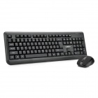LingDu D9100 Classic 2.4GHz Wireless Keyboard with Mouse Set - Black (1 x AA)