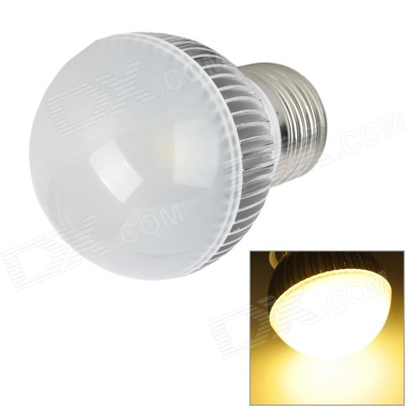 E27 3W 300lm 4500K 3-LED Warm White Light Lamp Bulb - Silver (85-265)
