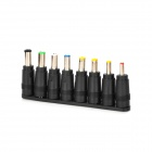 Universal DC Power Adapters for Laptop / Notebook / LED - Black (8 PCS)
