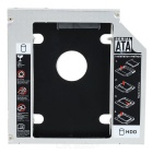 12,7 Optical Bay Zweite SATA HDD Hard Drive Caddy Module Tray Adapter für Laptop - Silber + Schwarz