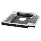 12.7mm Optical Bay Second SATA HDD Hard Drive Caddy Module Tray Adapter for Laptop - Silver + Black