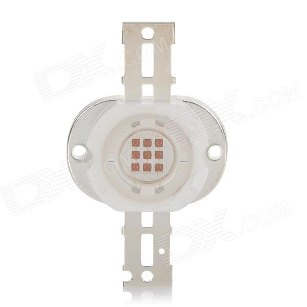 JR 10W 350~400lm 620~630nm Red Light LED Bulb - White + Silver