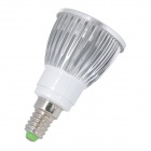 E14 5W 450lm 4000K 5-LED Warm White Light Bulb - Silver (AC 85~265V)