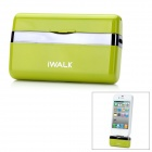 iWalk MFi Mini 1000mAh External Docking Backup Battery Charger for Iphone 4 / 4S / Ipod - Green