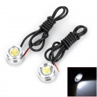 1.5W 100lm 6000K 1-LED Eagle Eye White Light Backup-Licht für Auto (DC 12V / 2 PCS)