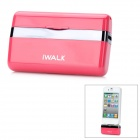 iWalk MFi Mini 1000mAh External Docking Backup Battery Charger for iPhone 4 / 4S / iPod - Deep Pink