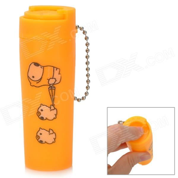 цена Mini Coin Storage Barrel with Keychain - Orange