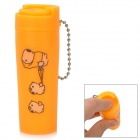 Mini Coin Storage Barrel with Keychain - Orange