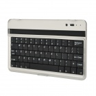 Ultrathin Aluminum Alloy Wireless Bluetooth V3.0 61-Key Keyboard for Google Nexus 7 - Black + Silver