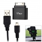 Micsale F804 USB 3.5mm AUX Audio Car Cable for iPhone 4 / 3G / 3GS / iPad / iPod Touch - Black