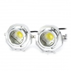 PointPurple DRL04B-9W 9W 1090lm High Power 1-LED Daytime Running Lamp (DC 12~24V / 2 PCS)