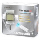 YONGNUO YN-160II 10W 1280lm 160-LED Warm White Video Light w/ Microphone + IR Remote Controller