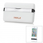 iWalk MFi Mini 1000mAh External Docking Backup Battery Charger for Iphone 4 / 4S / Ipod - White