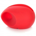Cute Silicone Stand Audio Amplifier for Iphone 5 - Red