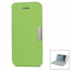 Protective Plastic + Microfiber Case w/ Holder for iPhone 5 - Green