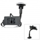 Car Windshield Holder Swivel Mount for Iphone 5 - Black