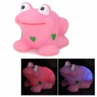 Resin Color Changing Bathing Floating Frog Toy - Pink (2 x AG1130)