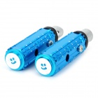 Thickening Aluminum Alloy Motorcycle Rear Back Pedals - Blue (2 PCS)