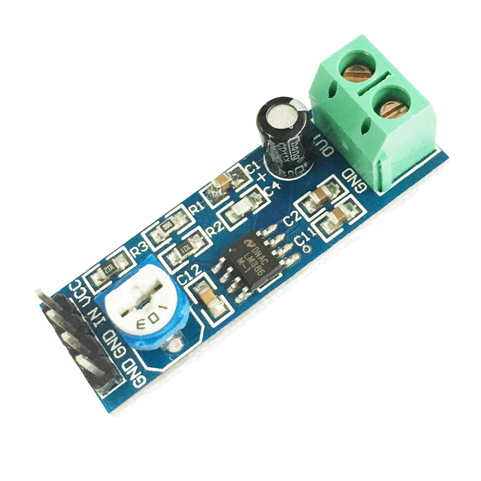 6979 LM386 20 Times Gain Circuit Audio Amplifier Module - Blue dia 400mm 900w 120v 3m ntc 100k round tank silicone heater huge 3d printer build plate heated bed electric heating plate element