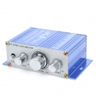 Aluminum Alloy 2-Channel 100W Audio Hi-Fi Stereo Amplifier for Car - Blue (DC 12V)
