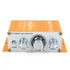 Aluminum Alloy 2-Channel 100W Audio Hi-Fi Stereo Amplifier for Car - Golden (DC 12V)
