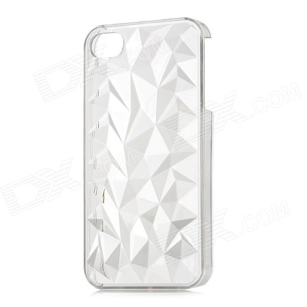 Diamond Pattern Protective Plastic Back Case for Iphone 4 / 4S - Transparent