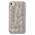 Protective 3D Diamond Grain Plastic Case for iPhone 4 / 4S - Transparent Grey