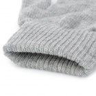 Unisex 3-Finger Capacitive Screen Touching Hand Warmer Gloves - Grey