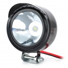 Waterproof 3W 270lm LED White Light Motorcycle Headlamp - Black (12~80V)