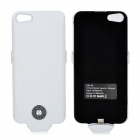 A6 2500mAh Rechargeable External Battery Back Case for iPhone 5 - White
