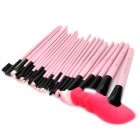 MAKE-UP FOR YOU Professional Cosmetic Makeup Brushes Set - Black + Pink (24 PCS)