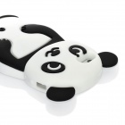 Cute Panda Pattern Protective Silicone Back Case for Iphone 5 - Black + White