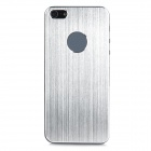 Decorative Protective Brushed Aluminum Alloy Front + Back Cover Skin Sticker for iPhone 5 - Silver