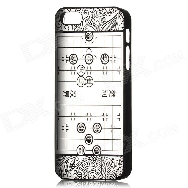 все цены на  Chinese Chess Pattern Frosted Protective PC Back Case for Iphone 5 - Black + Translucent  онлайн
